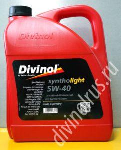 5 литров divinol syntholight 5w40
