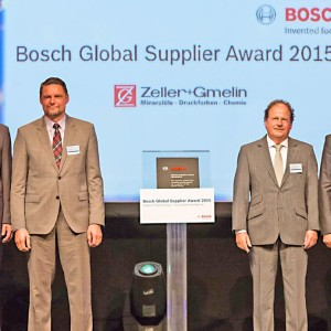 Zeller+Gmelin в пятый раз награждён Bosch Global Supplier Award