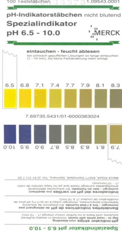 9 Zubora Значение уровня pH - измерение